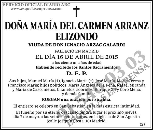 María del Carmen Arranz Elizondo